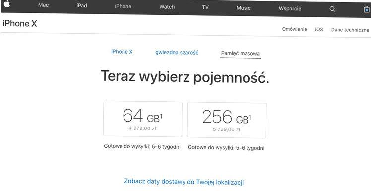 Iphone X Dostepnosc W Polsce