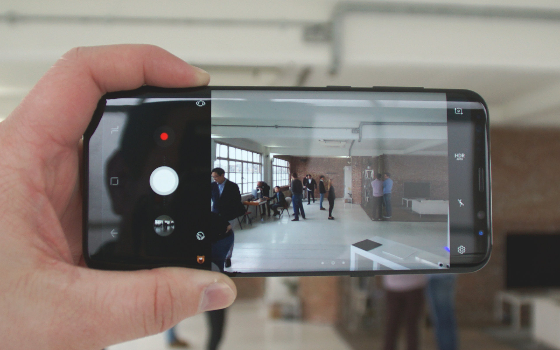 Samsung Galaxy S8 interfejs aparatu